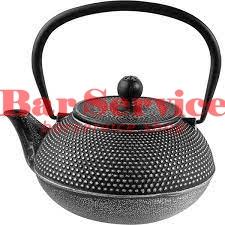 Чайник с ситечком;  чугун;  0,9л;  D=89,H=110,L=160мм;  черный в Астрахани