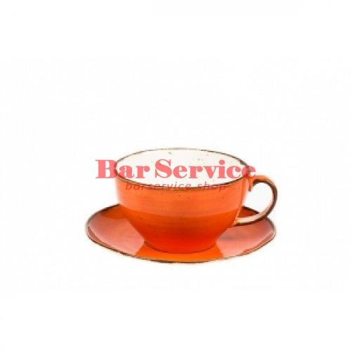 Чашка с блюдцем 375 мл Orange Sky Fusion в Астрахани
