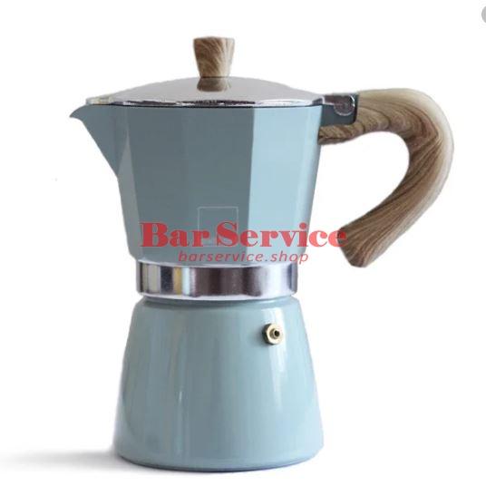 Кофеварка гейзерная Gnali Zani Venezia зеленая на 6п в Астрахани